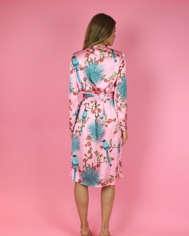 Pink Agave Print Robe