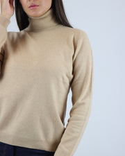 JUMPER 1234 | BLAIZ | CASHMERE CAMEL TURTLE NECK JUMPER