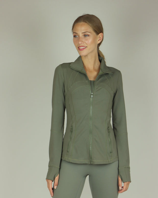 Khaki Green Yoga Jacket