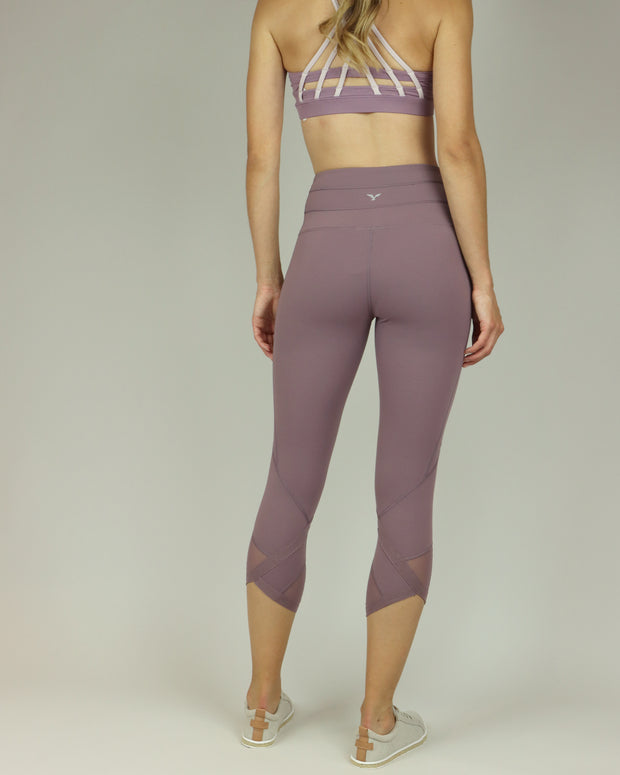 Dusky Lavender 3/4 Length Leggings