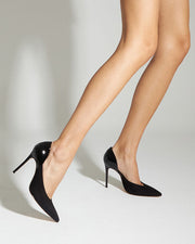 Black Contrast Stiletto Heels