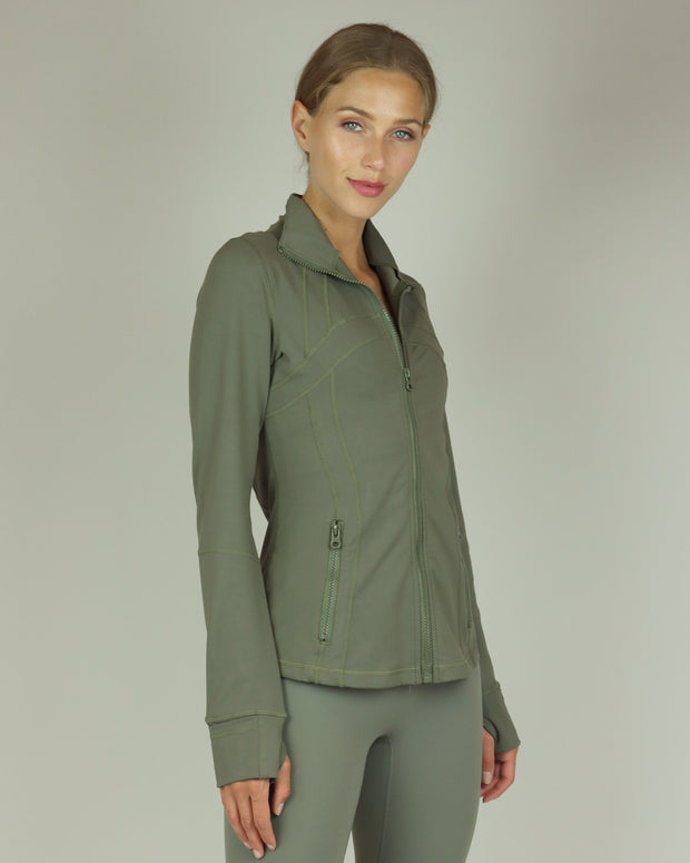 BLAIZ | BLAIZ | Khaki Green Yoga Jacket