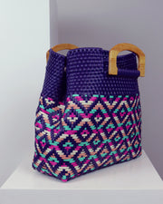 Aitana Wooden Handle Woven Tote