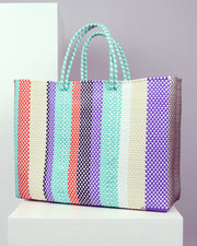 OAXACA | BLAIZ | Araceli Multicolour Large Woven Tote Bag