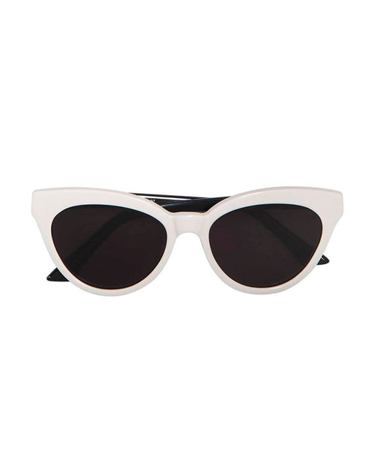 White Martini Cat-Eye Sunglasses