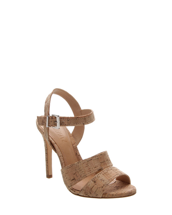 Cork High Heel Sandals