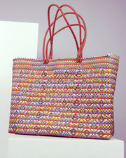 OAXACA | BLAIZ | Rosario Large Multicolour Woven Tote Bag