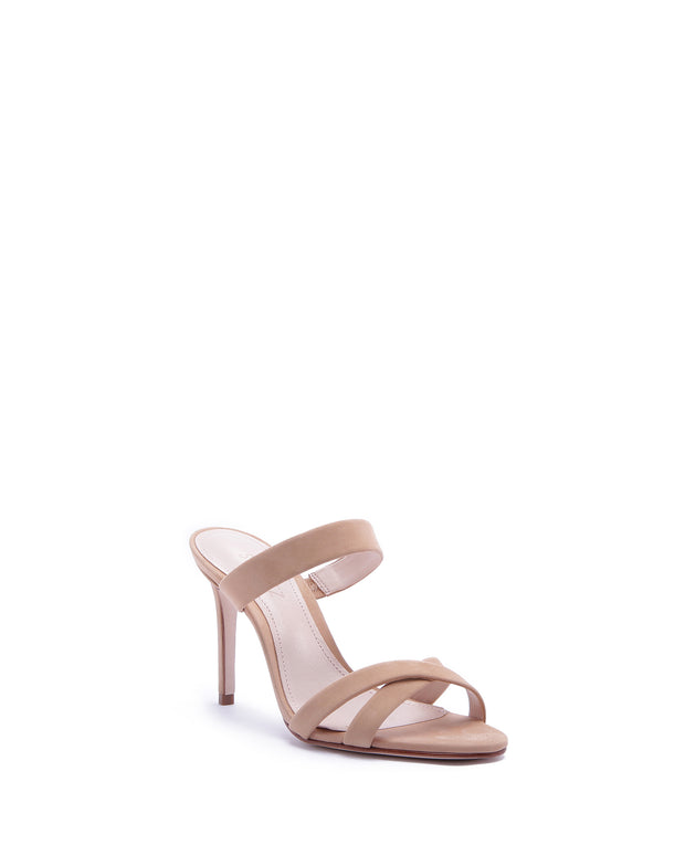 Honey Beige Strappy High Heels