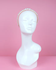 Pearl & Gold Beaded Headband