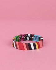 Striped Enamel Bracelet