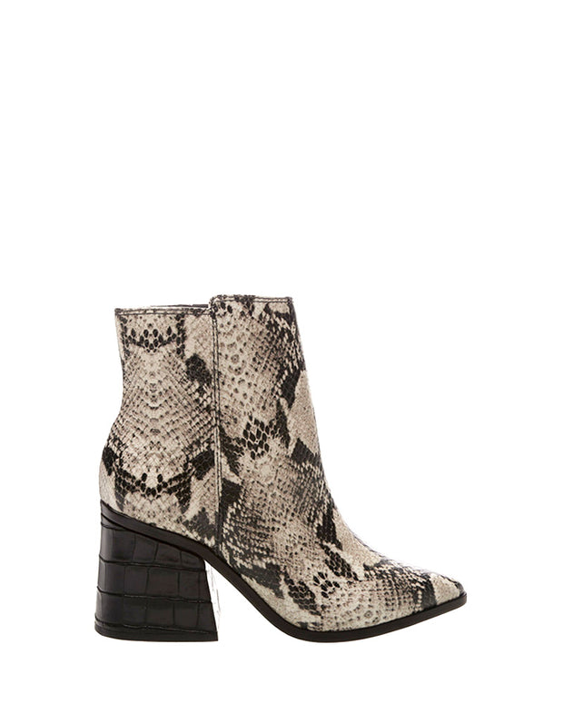 Snakeprint Ankle Boots