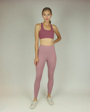 Dusty Pink High-Waisted Leggings