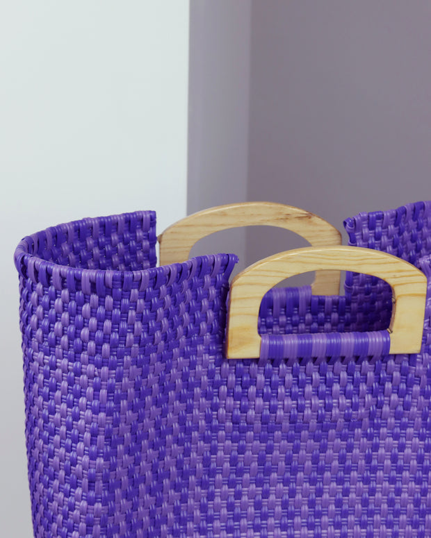 Soledad Wooden Handle Woven Tote
