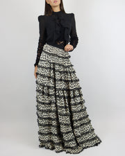 SKAZI | BLAIZ | WHITE BLACK MAXI SKIRT