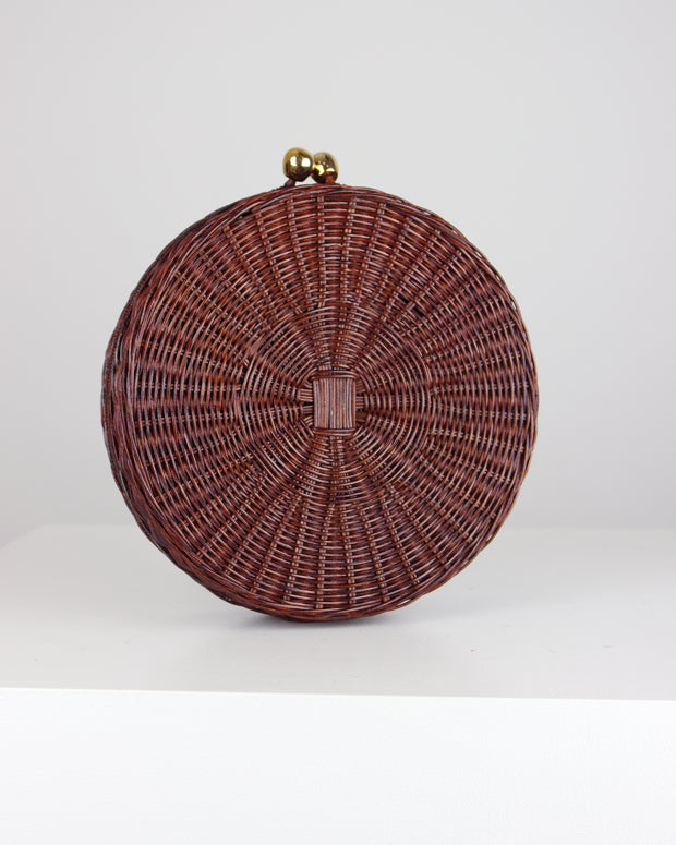 Dark Wicker Hillary Bag