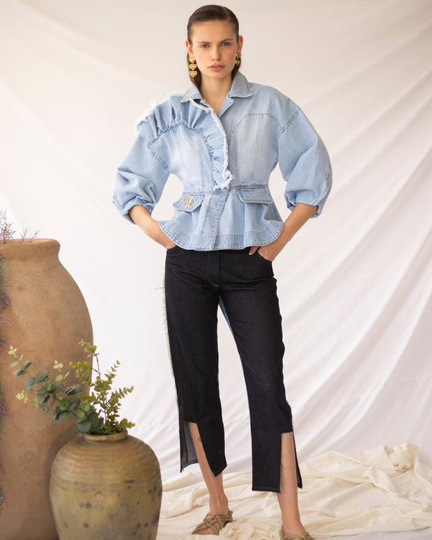 Two Tone Denim Luana Jeans