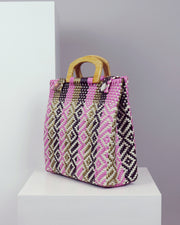 Guadalupe Wooden Handle Woven Tote