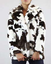 JAKKE | BLAIZ | COW PRINT FAUX FUR JACKET