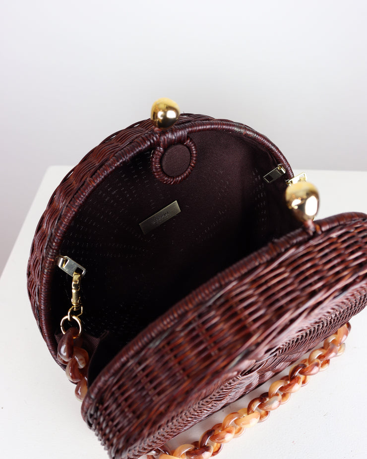 SERPUI | BLAIZ | Dark Wicker Hillary Bag