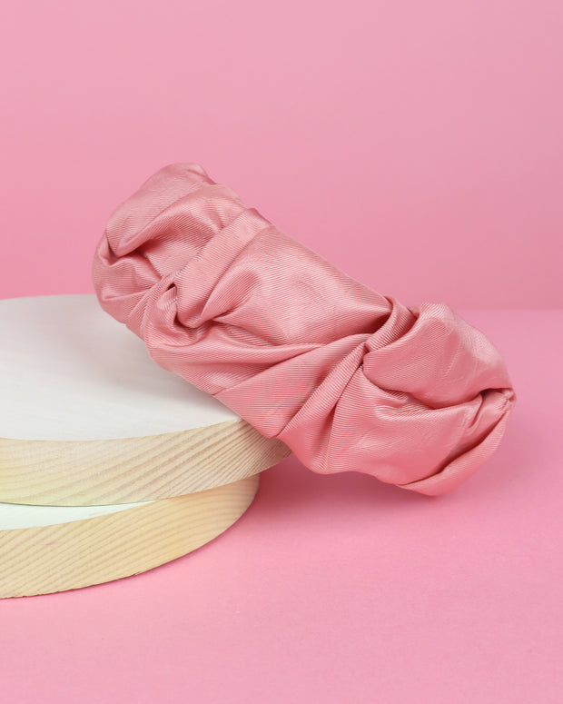 Pink Ruched Fabric Headband