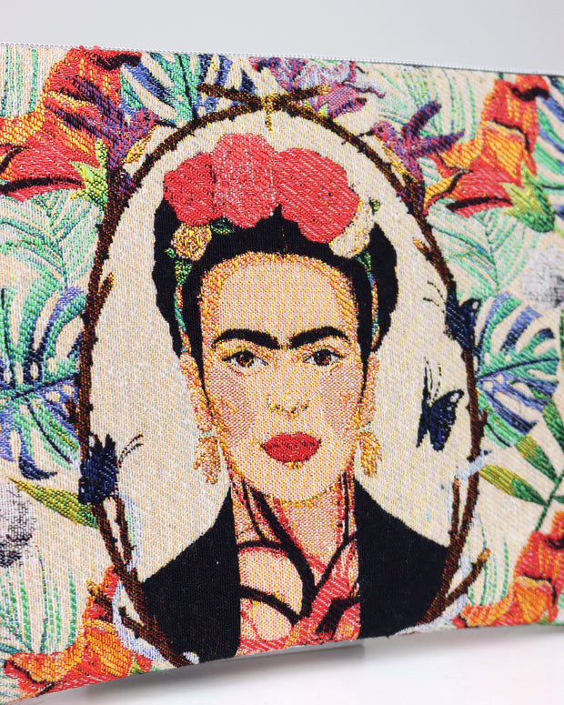 227 | BLAIZ | Tropical Leaves Frida Kahlo Pouch Bag