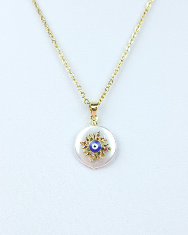 Evil Eye Pearl Necklace
