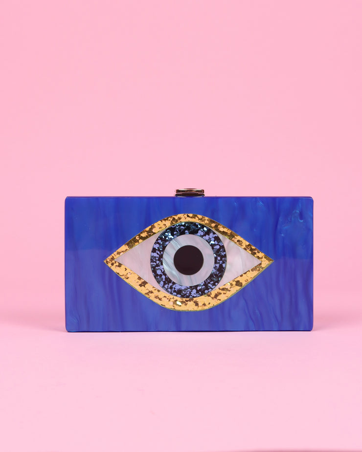 227 | BLAIZ | Royal Blue Acrylic Eye Clutch