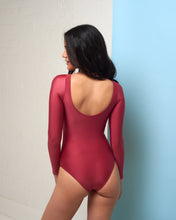 Load image into Gallery viewer, Ruby Red Long Sleeve Bodysuit