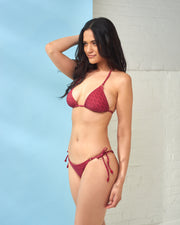 CIA MARITIMA | BLAIZ | Red Palm Bikini Bottoms