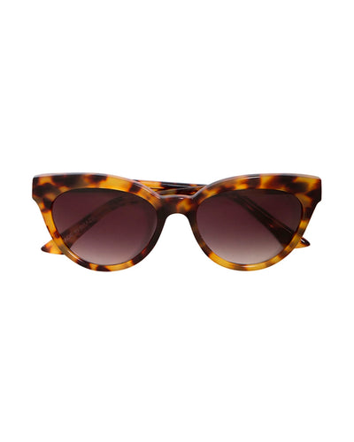 Tortoiseshell Martini Cat-Eye Sunglasses