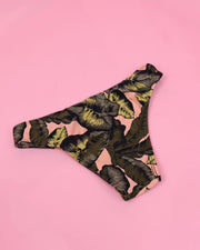 Tropical Leaves Tanga Bikini Bottom