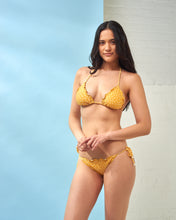 Load image into Gallery viewer, Yellow Star Print Bikini Top