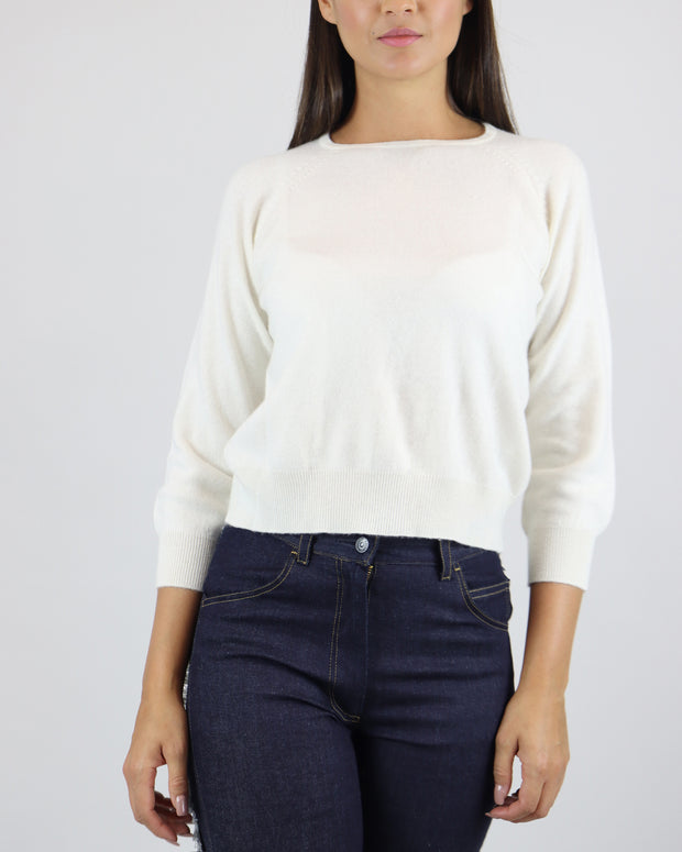 JUMPER 1234 | BLAIZ | CASHMERE CREAM CREW NECK JUMPER SWEATER