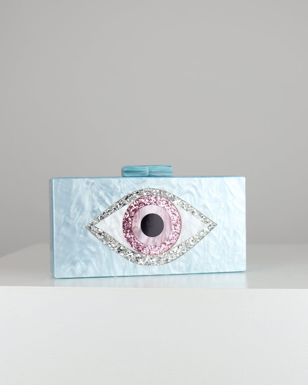 227 | BLAIZ | Blue Acrylic Eye Clutch