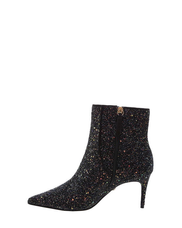 Midnight Glitter Ankle Boots
