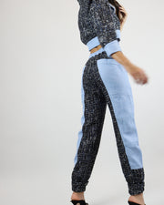 SKAZI | BLAIZ | BLUE TWEED TRACKSUIT PANTS