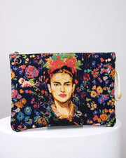 Wild Flowers Frida Kahlo Pouch Bag