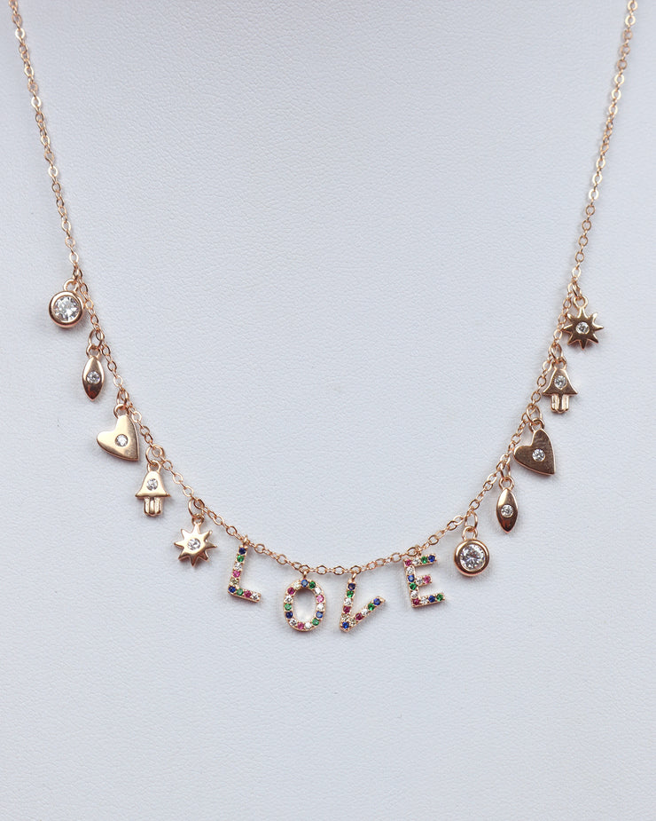 Love Rose Gold Necklace