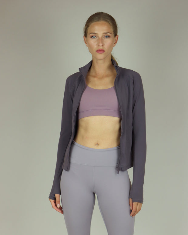 Mauve Mesh High-Waisted Leggings