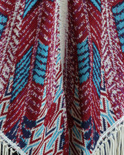 CECILIA PRADO | BLAIZ | Pink Blue Multi Knit Shoulder Shawl Poncho Wrap Autumn Winter Scarf
