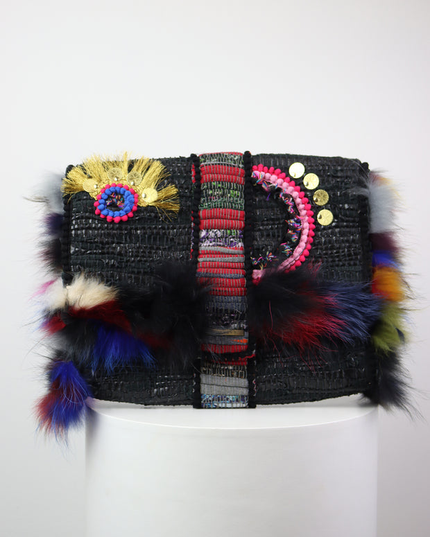 KOORELOO | BLAIZ | Boho Oversized Fluffy Clutch Bag