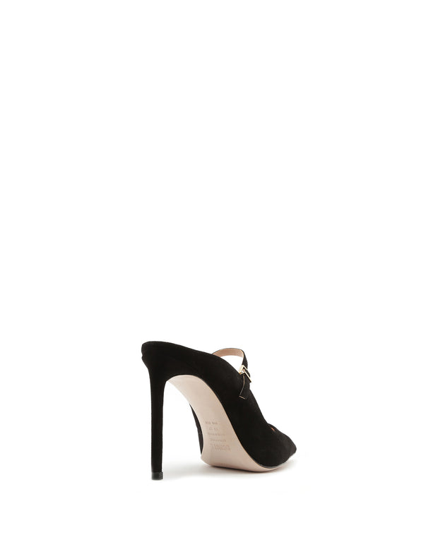 SCHUTZ | BLAIZ | Black Suede Mary Jane Stiletto Pumps