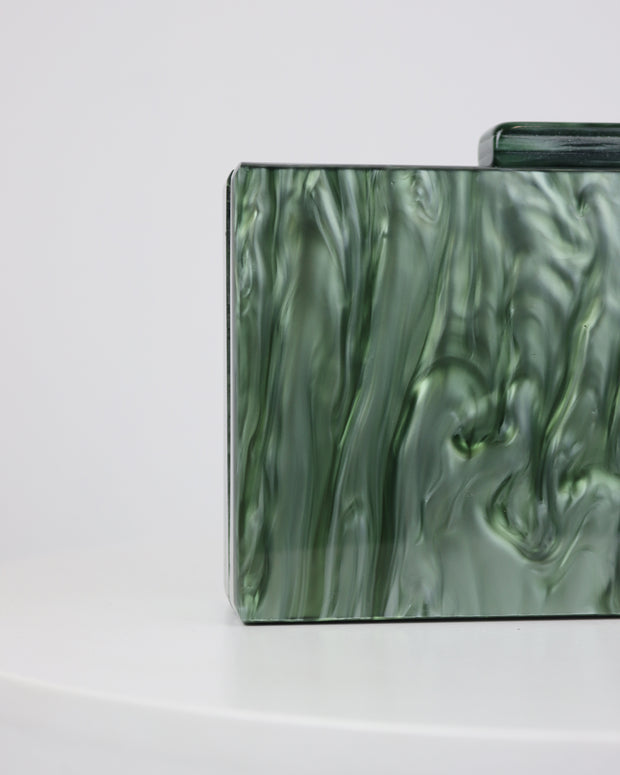 227 | BLAIZ | Emerald Green Geo Clutch Bag