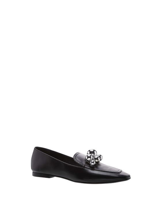 Black Embellished Loafers