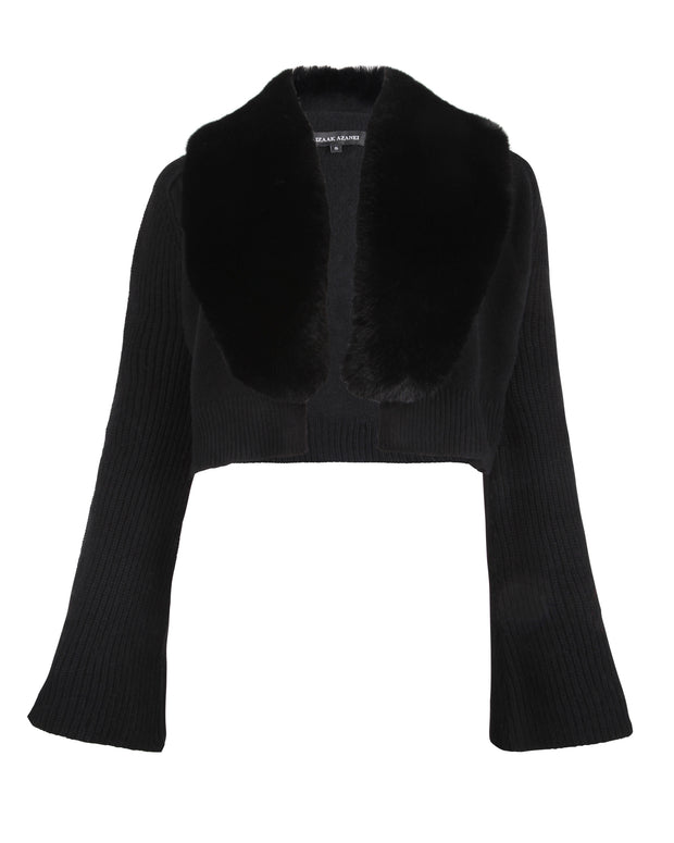 Black Bell Sleeve Cardigan
