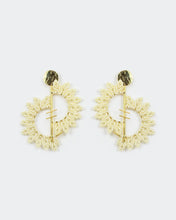 Load image into Gallery viewer, Confidence Gold & Ivory Crescents Earrings