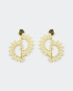 Confidence Gold & Ivory Crescents Earrings