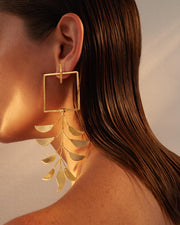 Gold Trinity Earrings