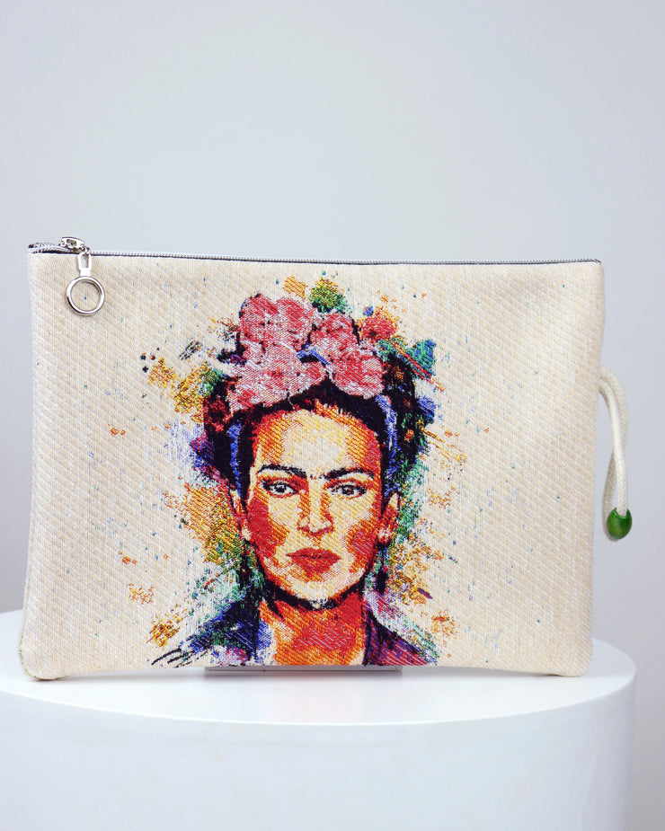 Roses Frida Kahlo Pouch Bag