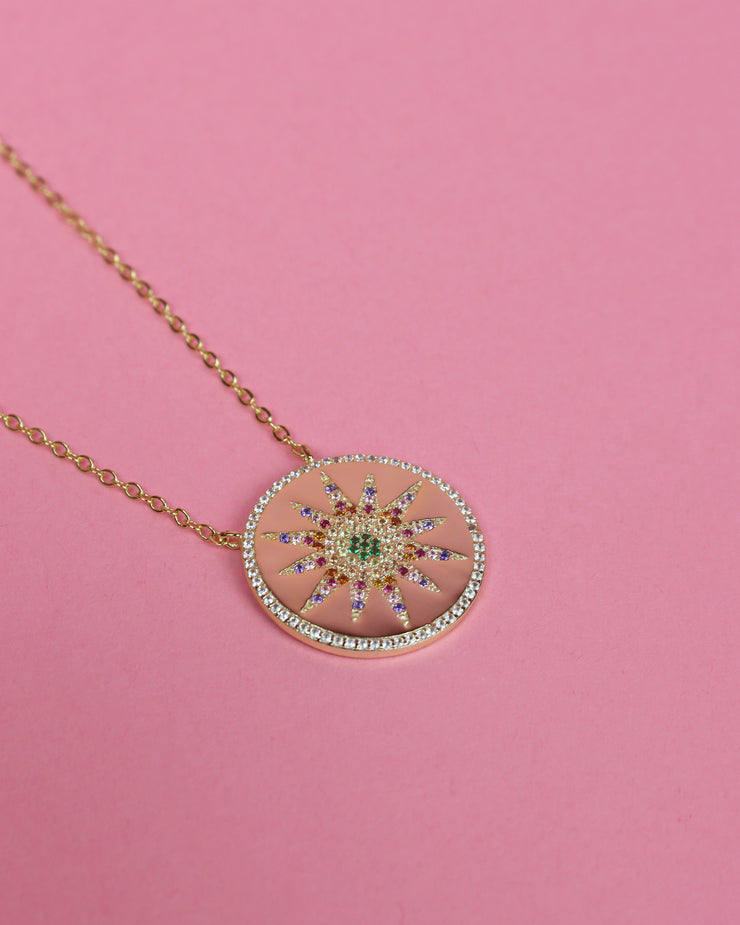 Sun Medallion Necklace